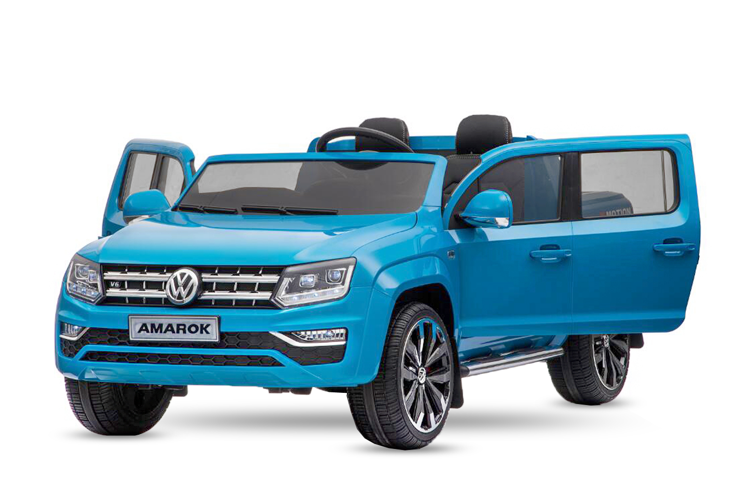 menila gmbh lizenz vw amarok kinder elektro auto 2 sitzer kinderauto pickup 2x 35w 12v 2 4g rc. Black Bedroom Furniture Sets. Home Design Ideas